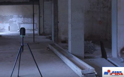 Vidéo d'un nuage de points par scanner 3D